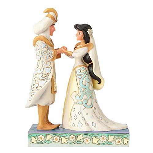 Jim Shore Disney Traditions Jasmine and Aladdin Wedding Figurine