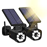 Fake Security Camera - Techage Solar Powered Dummy Cameras with Red LED Light...
