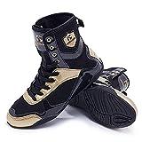 Men's Boxing Wrestling Shoes Low-top Combat Speed Wrestling Shoes Non-Slip Rubber Sole Black