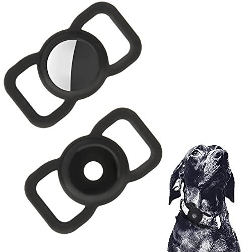 Fuyamp 2 Stück Pet Silikon Schutzhülle für Airtags Einstellbare GPS Tracking Hund Katze Zubehör Halsband Anti-Lost Locator Silikon Case Kompatibel Apple Air Tag zum Haustier Halsband Kinder