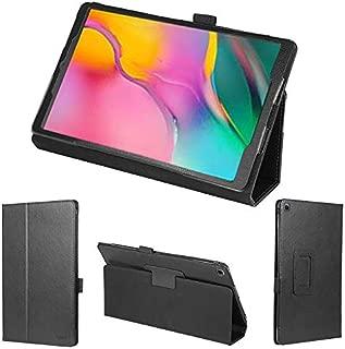 wisers タッチペン・保護フィルム付 Galaxy Tab A ケース Samsung サムスン J:COM ジェイコム 10.1 インチ タブレット カバー [2019 2020 年 新型] ブラック