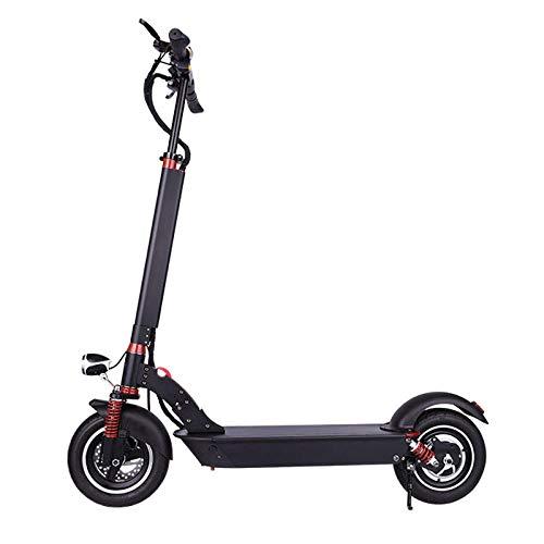 CZPF lithium-accu voor elektrische step, inklapbaar, voor elektrische scooters, elektrische voertuigen, zwart, 10 inch, 36 V-350 W-6 A batterijlevensduur 10-15 km