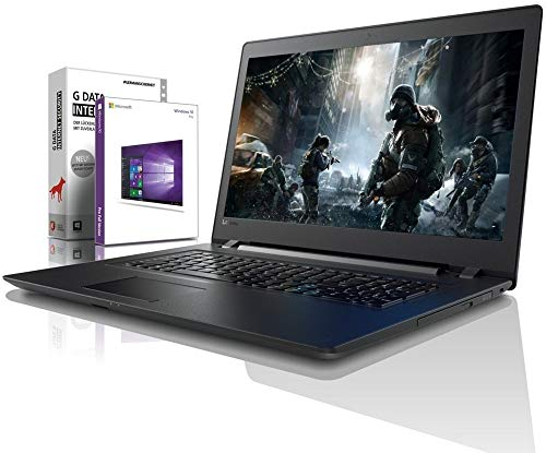 Lenovo (17,3 Zoll) Notebook (Intel Pentium 5405U 4-Thread CPU, 2.30 GHz, 8GB DDR4 RAM, 512GB SSD, DVD±RW, Intel HD 610, HDMI, Webcam, Bluetooth, USB3.0, WLAN, Win 10 Prof. 64 Bit, MS Office) #6505