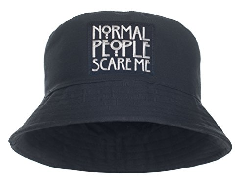 Damen Mädchen Parental Advisory Bucket Hat Bush Cap Sommer Urlaub schwarz Party Gr. One Size, Schwarz - Normal People Scare Me
