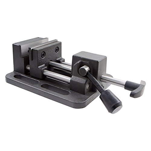 HHIP 3900-0183 Pro-Series High Grade Iron Quick Slide Drill Press Vise, 3' Width x 1.25' Depth Jaw, 3.5' Jaw Opening (Pack of 1)