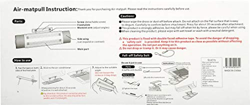 Kirfiz Air Deflector - 1 PC of Windshield, Windshield for air Conditioning, Retractable Windshield Deflector, Domestic air Supply System
