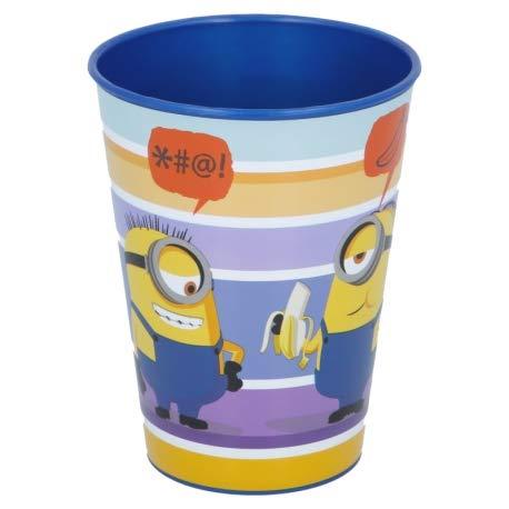 ILS I LOVE SHOPPING Set Bicchieri per Bambini 260 ml in plastica Senza BPA/Regalo per Ragazzi (Minions, Set 2 Bicchieri)