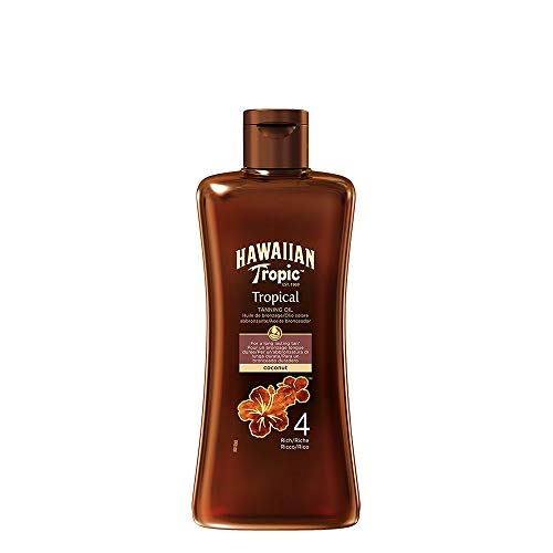 Hawaiian Tropic TROPICAL TANNING OIL SPF 4 RICH, Olio solare -...