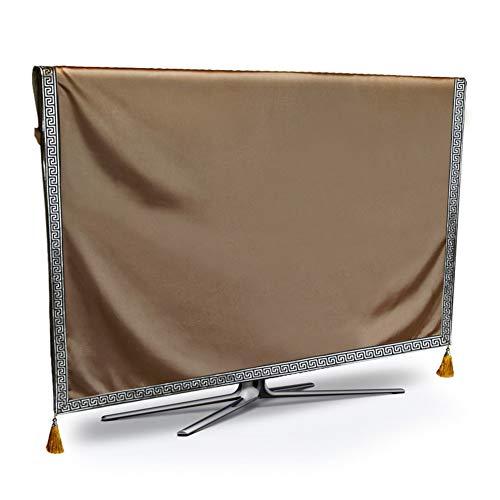 catch-L LCD TV Cover Monitor De Cubierta Antipolvo Color Sólido Inicio Arte De La Tela Cubierta Antipolvo (Color : Camel, Size : 43 Inches)