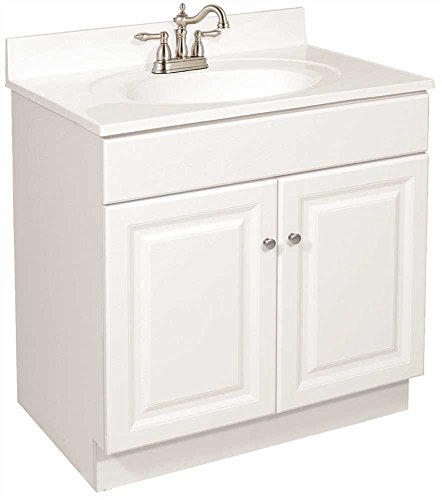 DESIGN HOUSE 103505 Wyndham Bathroom Vanity Cabinet, Ready to Assemble, 2 Door, White, 30