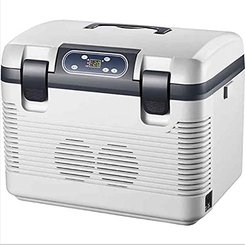 NOVHOME Mini Nevera, Refrigerador para AutomóVil de 19L 220V/ Congelador 12v/20v Mini Refrigerador para AutomóVil Hogar de Doble Uso Refrigerador PequeñO Dormitorio Caja FríA Caja de Temperatura