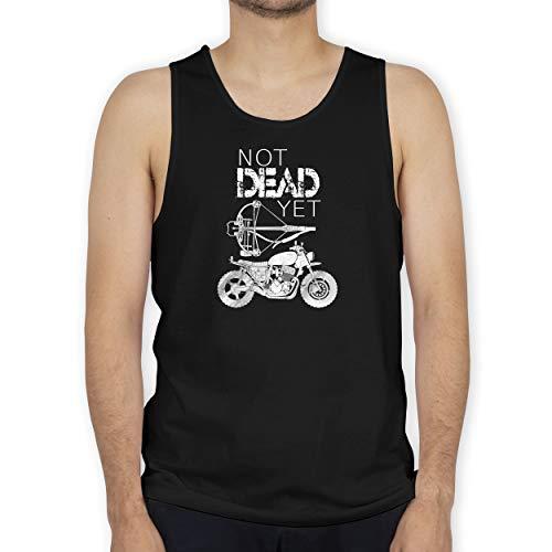Shirtracer Statement - Not Dead Yet - Motorrad Armbrust - 3XL - Schwarz - Zombies - BCTM072 - Tanktop Herren und Tank-Top Männer