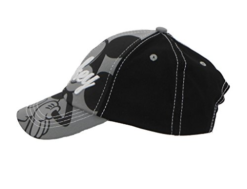 Disney Kids Mickey Mouse Black Embroidery Cap with Adjustable Strap