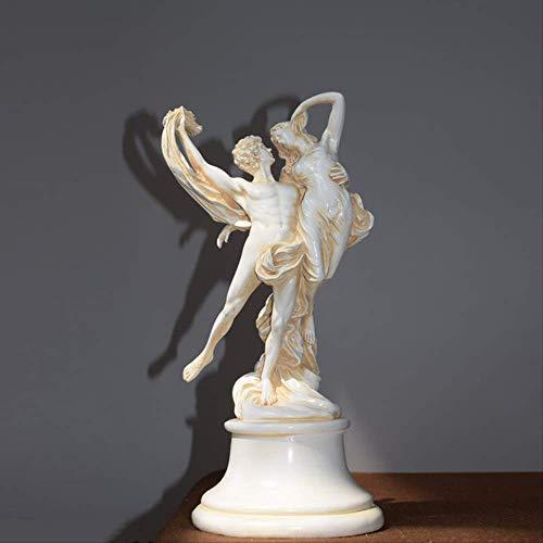 ZAAQ Estilo nórdico Ángel Estatuilla Escultura Resina Arte y artesanía Decoración del hogar Adornos Mitología Griega Amor Dios Alas Significado Amor Eterno