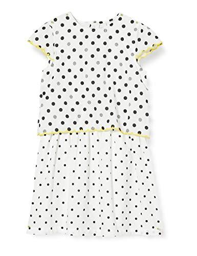 ESPRIT KIDS Mädchen Woven Dress Kleid, Weiß (White 010), 104(Herstellergröße: 104+)