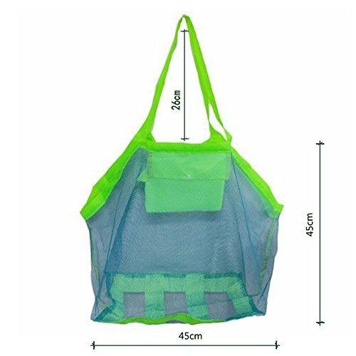 1 stuk opvouwbare strandtas voor kinderen strandtas voor kinderen draagtas speelgoed kleding netzak blauw blauw