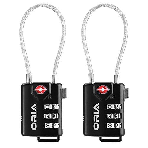 Oria VE-HA31 TSA Approved Reiseschlösser Kofferschloss, 2er-Pack
