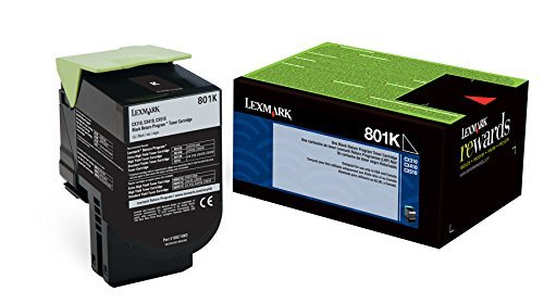 Lexmark Genuine Brand Name, OEM 80C10K0 (Lexmark 801K) Return Program Black Toner Cartridge (1K YLD)