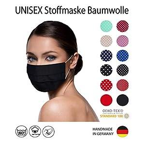 einfarbig SCHWARZE Facies unisex wiederverwendbar 60 Grad waschbar aus Baumwolle Stoff Facies hergestellt in Berlin…