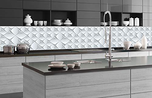 DIMEX LINE Küchenrückwand Folie selbstklebend 3D KUNSTWAND | Klebefolie - Dekofolie - Spritzschutz für Küche | Premium QUALITÄT - Made in EU | 350 cm x 60 cm