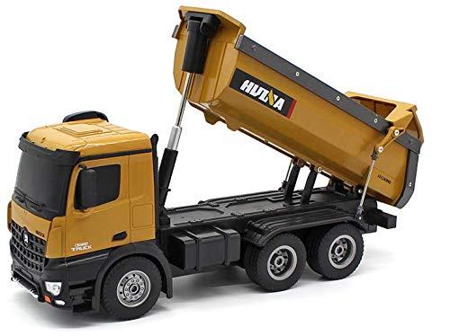 Fm-electrics Huina 1580 FM573 | Op afstand bestuurde vrachtwagen met accu met volledige functie, laster met afstandsbediening, op afstand bestuurd met accu en oplader