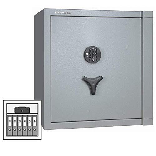 Wertheim Wertschutzschrank CP15, Elektronikschloss mit Notschlüssel (190 mm) Code Combi B30, Alu-Garnitur, Grad 3 nach EN 1143-1, 30 Minuten Brandschutz, H62.9xB60.5xT52.2 cm, 295 kg