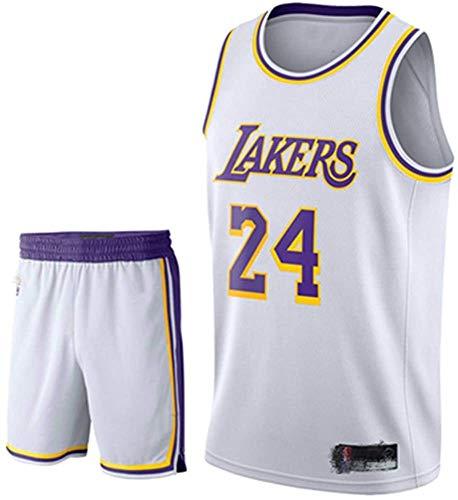 Camiseta De Baloncesto para Hombre Kobe No. 24 Los Angeles Lakers Traje De Baloncesto Deportivo Malla Transpirable Swingman Jersey Chaleco Pantalones Cortos Traje,D-5XL