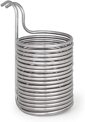Sucastle Kühlspirale Edelstahl Kühlschlange Eintauchkühler Bier 12 mm X 0,5 mm X 15 m
