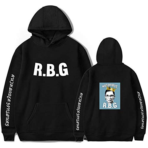 KTSWP Women's Hooded Jacket Not Fragile Like A Flower But A Bomb Ruth Ginsburg RBG Shirt Gift,Black1,XXXL