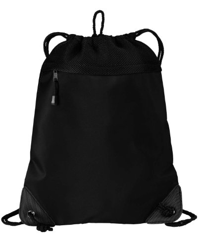 Port Authority Cinch Pack With Mesh Trim - Black - One Size