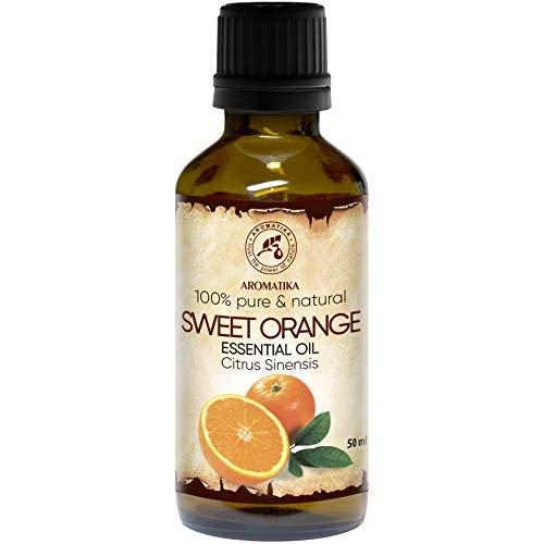 Orangenöl - 100{79c434005ec08b4e7ae350199f6634367d229140e03b402a683c2952021a83a9} Reine Ätherisches Orangenöl 50ml - Brasilien - Orangen Öl für Guten Schlaf - Raumduft - Duftlampe