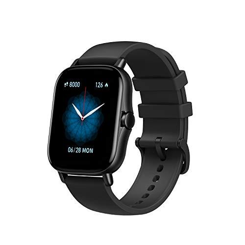 Amazfit GTS 2 Smartwatch Reloj de pulsera Inteligente con llamada bluetooth 90 modos deportivos Monitor de saturación de oxígeno Sangre y de Frecuencia Cardíaca Almacenamiento de música de 3 GB Negro