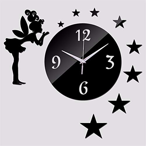 HomeClock Miroir Sticker Mural DIY Rond Art Acrylique Horloge Murale décoration