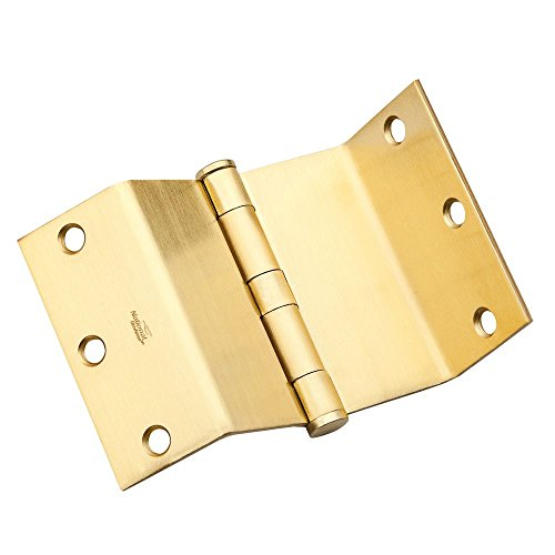 National Hardware N236-020 DPBF248 Swing Clear Hinge in Satin Brass