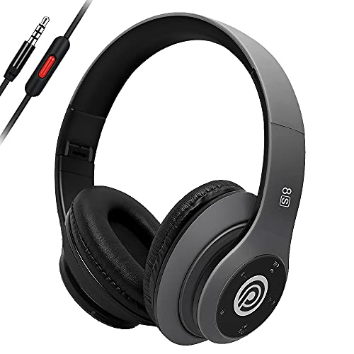 Prtukyt Wireless Headphones Over Ear, [50 Hrs Playtime] Bluetooth Headphones, 6EQ Modes, Foldable Bluetooth Headset Built-in Mic, Soft Memory Earmuffs for TV/PC/Phones