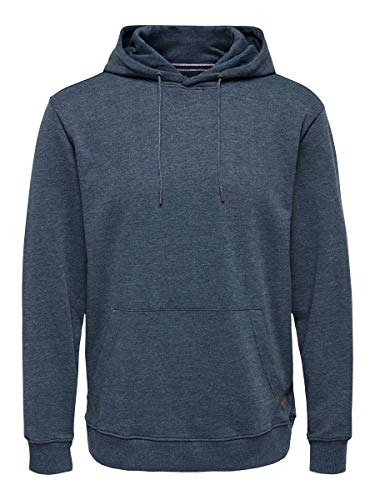 Only & Sons NOS Onswinston Sweat Hoodie Noos Shirt À Capuche, Bleu (Dress Blues Dress Blues), Large Homme
