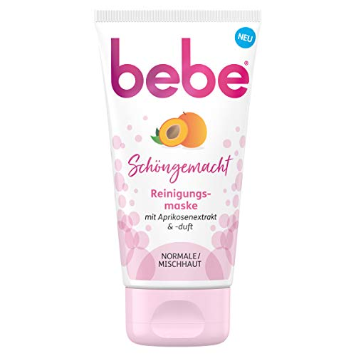 Bebe Schöngemacht, Reinigungsmaske mit Aprikosenextrakt und -duft, Gesichtsmaske, Normale/ Mischhaut, 75 ml