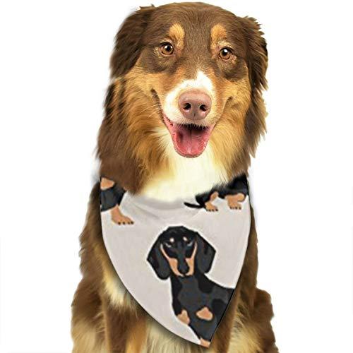 Aeykis Wiener Dog Cotton Triangle Lätzchen Schal, waschbar, atmungsaktiv und weich