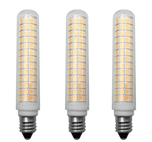 JKLcom E11 LED Bulbs Dimmable 13W(Equivalent to 120W Halogen Bulbs Replacement)110V Warm White 3000K Glass LED Corn Light Bulbs JD T4 E11 Mini Candelabra Base,Dimmable,134 LED 2835 SMD,3 Pack