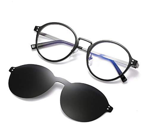 Embryform Occhiali da sole Clip-on da donna per occhiali da vista- Occhiali da sole vintage cat eye polarizzati da guida per donna, 1-Pack Occhiali da Sole Polarizzati Clip-on+1 Frame