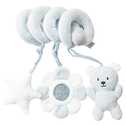 FUNMIX Juguete para Cuna, Actividad de Carro de bebé Juguete de Felpa en Espiral Juguete para Cochecito de bebé Juguete para Colgar en el Asiento del automóvil Apto para niños de 0 a 36 Meses