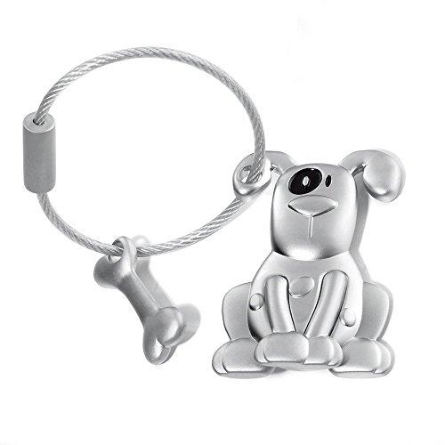 Troika Pete Dog and Bone Keyring (KR1021MA)