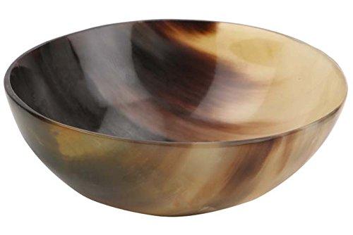 Handicrafts Home Ox Horn Shave Bowl Einseifen Rasieren Soap Cup Schalen Becher Palm Dish echte handgemachte Größe 5 '
