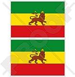 Äthiopien ehemaligen Äthiopische Löwe von Juda Flagge Afrika 10,2cm (100mm) Bumper Sticker, Aufkleber Vinyl X2