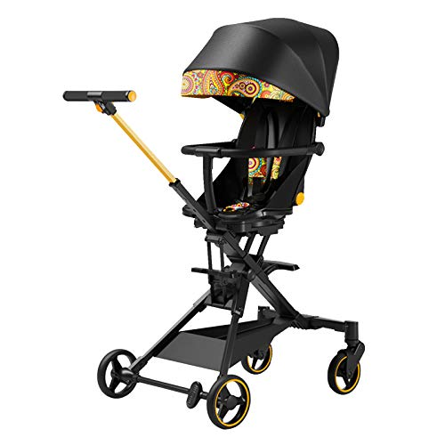 Bospyaf Foldable Baby Stroller Can Be Seated, Reclining, High Landscape, Lightweight, Removable And Washable Baby Stroller,F