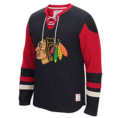 Reebok CCM Long Sleeve Jersey Crew - Chicago Blackhawks