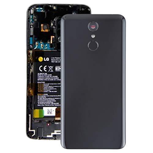 YIHUI Repare Repuestos Tapa Trasera de batería con Lente de cámara y Sensor de Huellas Digitales for LG Q7 / Q7 + (Negro) Partes de refacción (Color : Black)