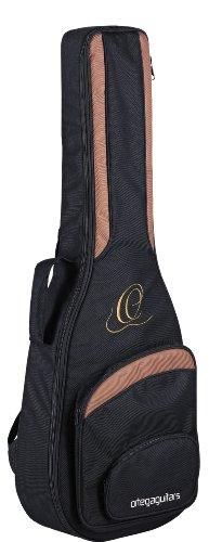 Ortega Guitars ONB44L hochwertige Konzertgitarren Tasche 4/4 Größe lange Mensur (14 Bund Korpusübergang) mit Rucksackgarnitur schwarz