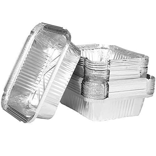 Viesap vaschette alluminio, 32 Vaschette Monouso, Vassoi per piatti, Contenitori usa e getta, Perfette per Cottura al Forno, Barbecue, Arrostire e Cucinare, cena di famiglia amici cena festa.