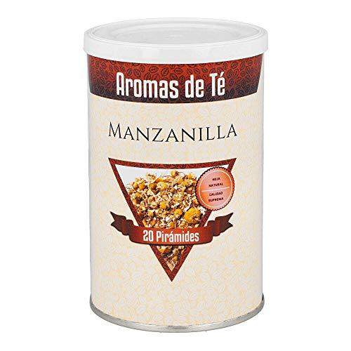 Aromas de Té - Pirámides de Manzanilla/Manzanilla Pirámides con Efecto Calmante y Reparador del Aparto Digestivo, 20 Pirámides